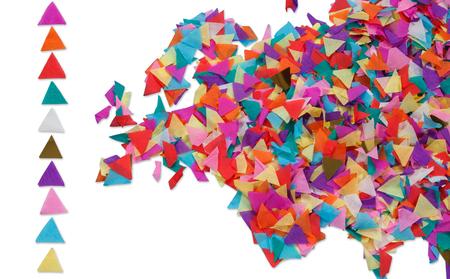 mapa de europa: Mapa de Europa hecha de confeti y con trazado de recorte