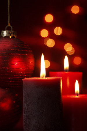 luz de velas: Vela de Navidad