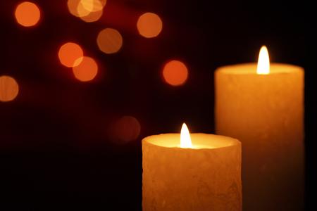 Natale candela  Archivio Fotografico - 46020508