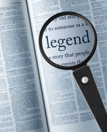 legend: LegendMagnifying glass on the legend in dictionary