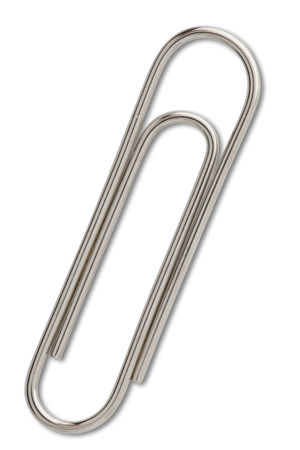 Paper Clip on white with clipping path