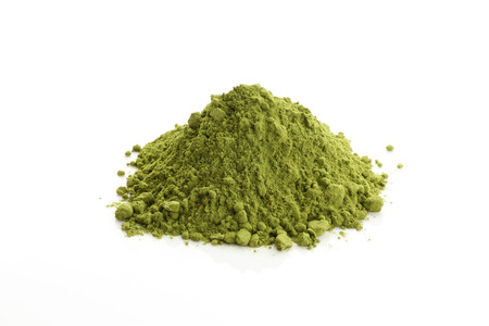 plant antioxidants: Matcha and Green Tea powder Stock Photo