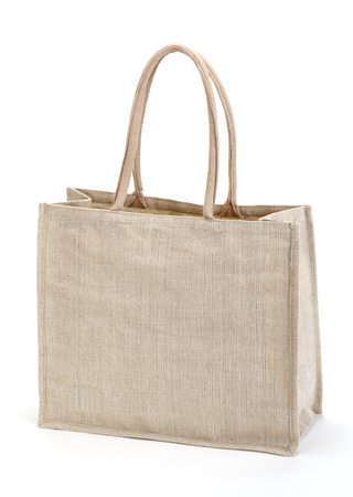 fabric bag: Eco Shopping bag. isolated on white Stock Photo