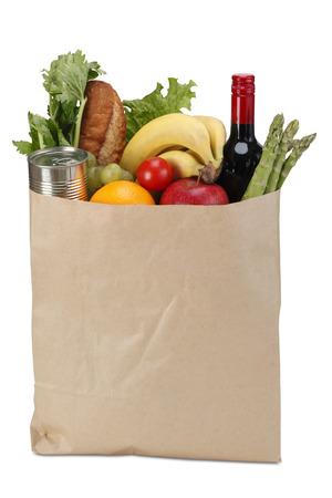 bolsa de pan: Ultramarinos bolsa de papel Foto de archivo