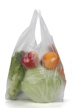 Plastic Grocery Bag Stock Photo