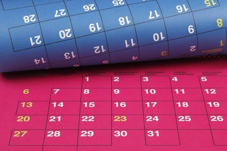 kelly: Colorful calendar