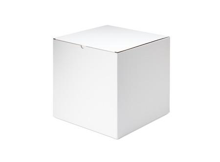 White blank box on white background 写真素材