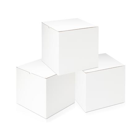 carton: Cuadro en blanco blanco sobre fondo blanco Foto de archivo