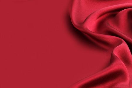 Red silk textile background Standard-Bild