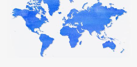 america del sur: mapa loco mundo de acuarelas