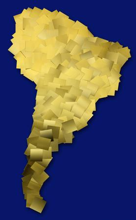 america del sur: Mapa de América del Sur Foto de archivo