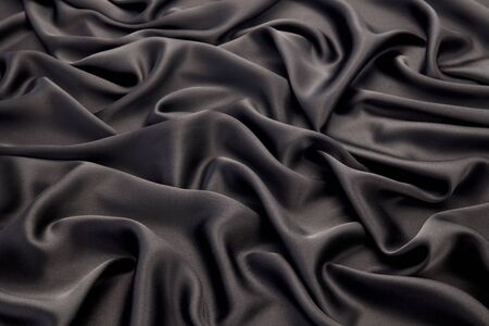 black silk: Black silk textile background