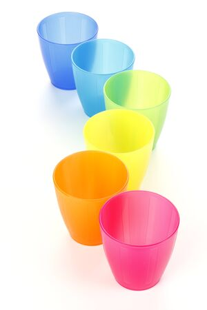 glass cup: Colorful plastic cups