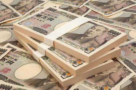 Currency1 giapponese milioni di yen giapponesi Archivio Fotografico - 46617842
