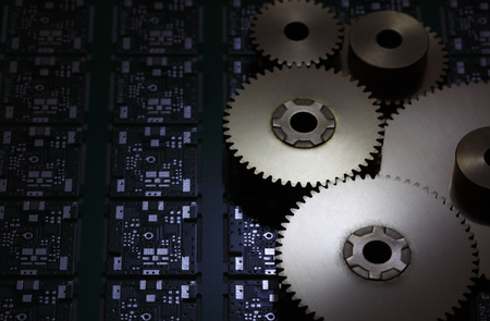 computer chip: computer Chip and gear