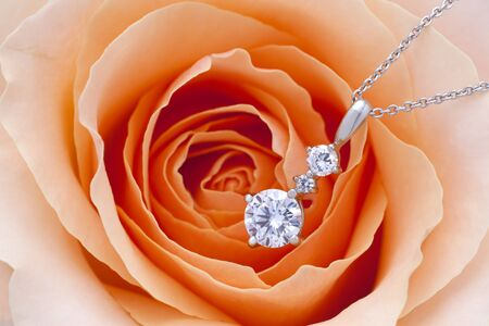 diamond jewelry: Diamond and rose