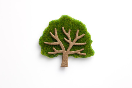 craft paper: Paper craft treeHand made paper craft tree Stock Photo
