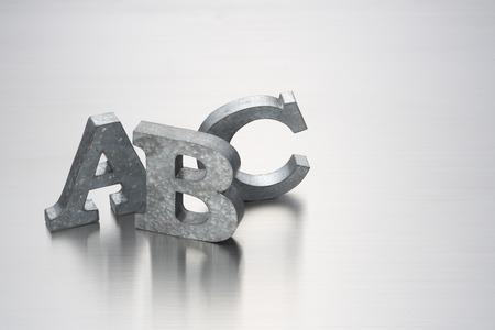 brushed: letter ABCon brushed metal