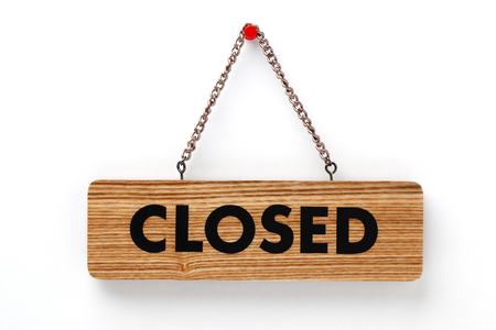 closed sign: closed sign Stock Photo