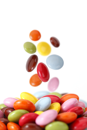candies: Colorful chocolate candies