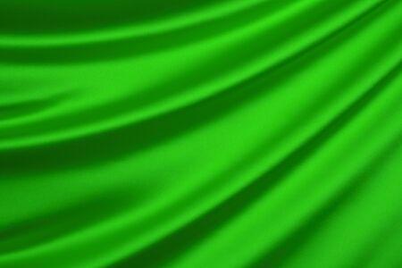 geen: Green silk textile background