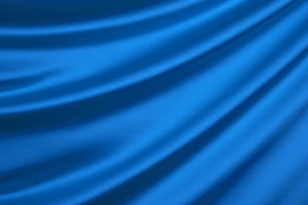 Blue silk textile background