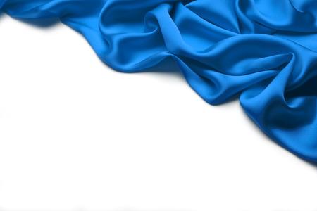 Blauwe zijde textiel achtergrond Stockfoto - 46619229