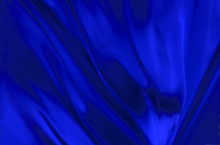 blue silk: Blue silk textile background