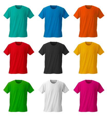 clipping: Colorful T-shirts with clipping path