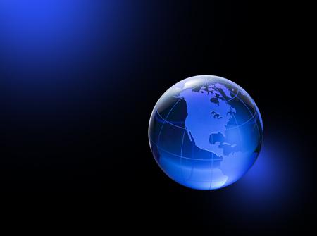 three dimensions: Globe of the World. America