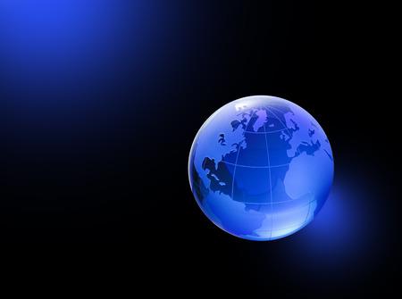 three dimensions: Globe of the World. The Atlantic ocean Stock Photo