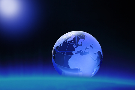 three dimensions: Globe of the World.Europe, Africa