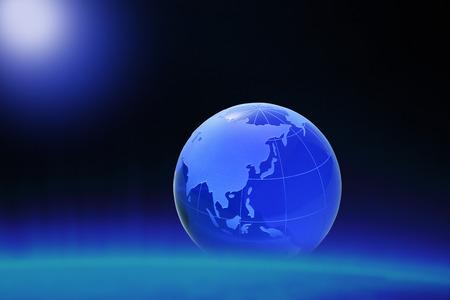 three dimensions: Globe of the World.Asia