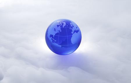 Globe of the World. De Atlantische oceaan