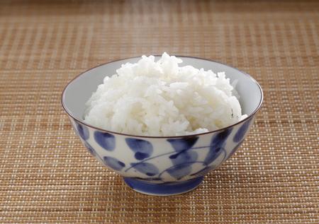 Le riz blanc RiceSteamed