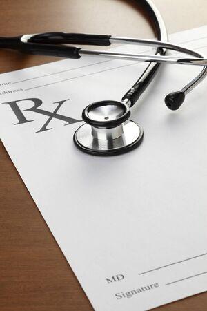 healthcare and medicine: Blank Prescription, concept for Healthcare And Medicine, Stock Photo