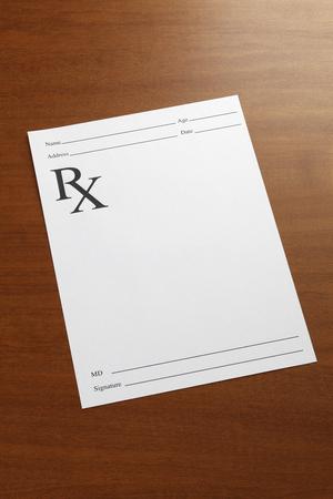 recetas medicas: prescripción médica vacía Foto de archivo