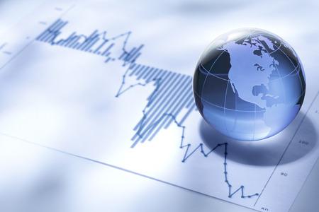 Global Negocios y finanzas Foto de archivo