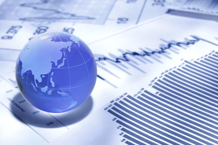 グローバル ビジネスと金融 写真素材