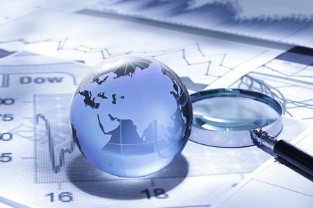 negocios internacionales: Global Negocios y finanzas Foto de archivo