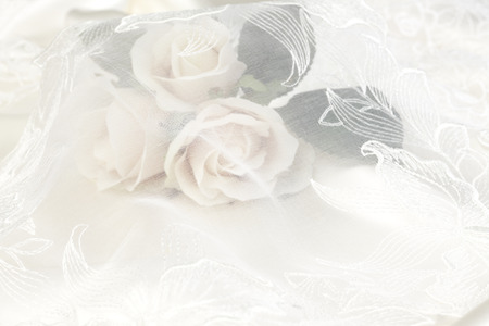 Wedding lace background with Pink Rose Stock Photo - 59689824