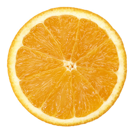 systemic: Slice of orange fruit isolated with clipping path