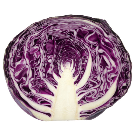 cabbages: Close up photo of red cabbage pattern when chopped in half