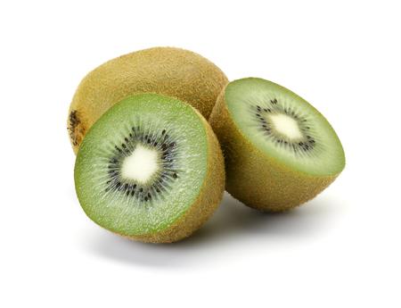 kiwi fruta: Kiwi en el fondo blanco