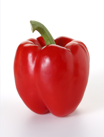 red pepper: Red pepper on white background