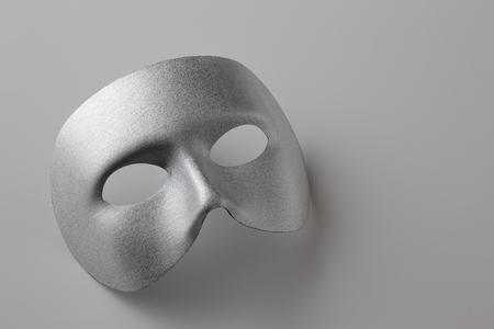 dressing up costume: Silver mask