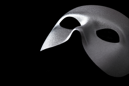 theatre masks: Silver mask