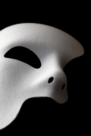 white mask: White Maskwith clipping path Stock Photo