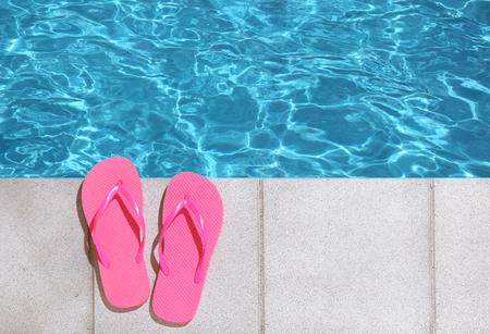unattended: Flip Flops by Pool