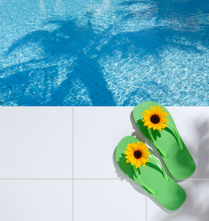 poolside: Image of the resort poolside Stock Photo